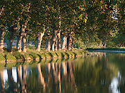 Canal du Midi in the Languedoc region, near Béziers, France