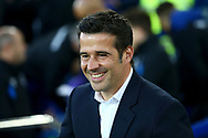 Watford Manager Marco Silva smiles as he looks on from the dugout. Premier league match, Everton vs Watford at Goodison Park in Liverpool, Merseyside on Sunday 5th November 2017.<br /> pic by Chris Stading, Andrew Orchard sports photography.