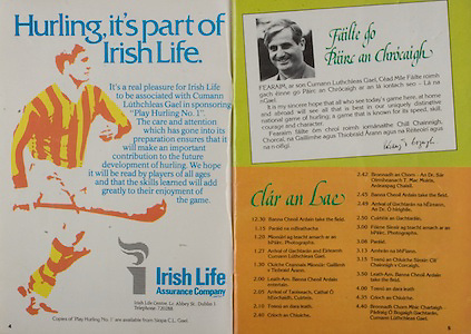 All Ireland Senior Hurling Championship - Final,.05.09.1982, 09.05.1982, 5th September 1982, .05091982AISHCF,.Cork v Tipperary, .Tipperary 3-18, Cork 1-13,..Irish Life Assurance Company,