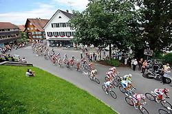 03.07.2011, AUT, 63. OESTERREICH RUNDFAHRT, 1. ETAPPE, DORNBIRN-GOETZIS, im Bild das Feld der Radfahrer kurz nach dem Start in Dornbirn // during the 63rd Tour of Austria, Stage 1, 2011/07/03, EXPA Pictures © 2011, PhotoCredit: EXPA/ S. Zangrando