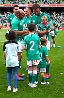 Rugby Union - 2019 pre-Rugby World Cup warm-up (Guinness Summer Series) - Ireland vs. Wales<br /> <br /> Rory Best (c) (Ireland) and Iain Henderson (Ireland) with their kids at The Aviva Stadium.<br /> <br /> COLORSPORT/KEN SUTTON