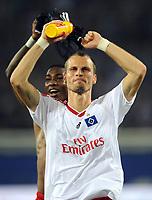 Fotball<br /> Tyskland<br /> Foto: Witters/Digitalsport<br /> NORWAY ONLY<br /> <br /> 26.09.2009<br /> <br /> Schlussjubel David Rozehnal HSV<br /> <br /> Bundesliga Hamburger SV - FC Bayern München 1:0