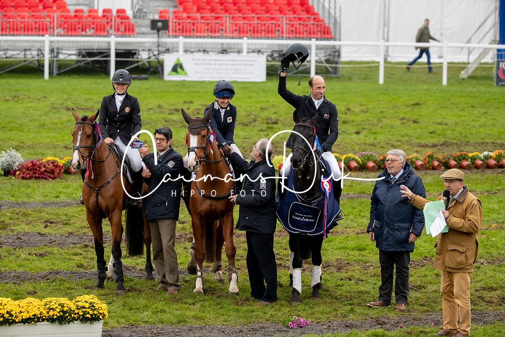 Team KWPN, Sanderson Yasmin Nathalie, NOR, Coy Heidi, GBR, Halenza, Inchello DHI, Price Tim, NZL, Happy Boy<br /> Mondial du Lion - Le Lion d'Angers 2019<br /> © Hippo Foto - Dirk Caremans<br />  20/10/2019