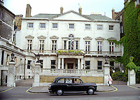 Cambridge House, Picadilly, London, UK, a grade 1 listed mansion in a late Palladian style. Its most famous owner was probably Lord Palmerston. He was the British Prime Minister from 1855 to 1865. 199808006.<br /> <br /> Copyright Image from Victor Patterson, Belfast, UK<br /> <br /> t: +44 28 9066 1296 (from Rep of Ireland 048 9066 1296)<br /> m: +44 7802 353836<br /> e: victorpattersonbelfast@gmail.com<br /> <br /> www.images4media.com<br /> <br /> Please see my full Terms and Conditions of Use at https://www.images4media.com/p/terms-conditions - it is IMPORTANT that you familiarise yourself with them.<br /> <br /> Images used online incur an additional cost. This cost should be agreed in writing in advance. Online images must be visibly watermarked i.e. © Victor Patterson or that of the named photographer within the body of the image. The original metadata must not be deleted from images used online.<br /> <br /> This image is only available for the use of the download recipient i.e. television station, newspaper, magazine, book publisher, etc, and must not be passed on to a third party. It is also downloaded on condition that each and every usage is notified within 7 days to victorpattersonbelfast@gmail.com.<br /> <br /> The right of Victor Patterson (or the named photographer) to be identified as the author is asserted in accordance with The Copyright Designs And Patents Act (1988). All moral rights are asserted.