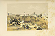 Mosque of Omar the ancient site of the Temple from The Holy Land : Syria, Idumea, Arabia, Egypt & Nubia by Roberts, David, (1796-1864) Engraved by Louis Haghe. Volume 1. Book Published in 1855 by D. Appleton & Co., 346 & 348 Broadway in New York.