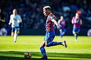 Crystal Palace #3 Patrick van Aanholt during the Premier League match between Crystal Palace and Tottenham Hotspur at Selhurst Park, London, England on 25 February 2018. Picture by Sebastian Frej.