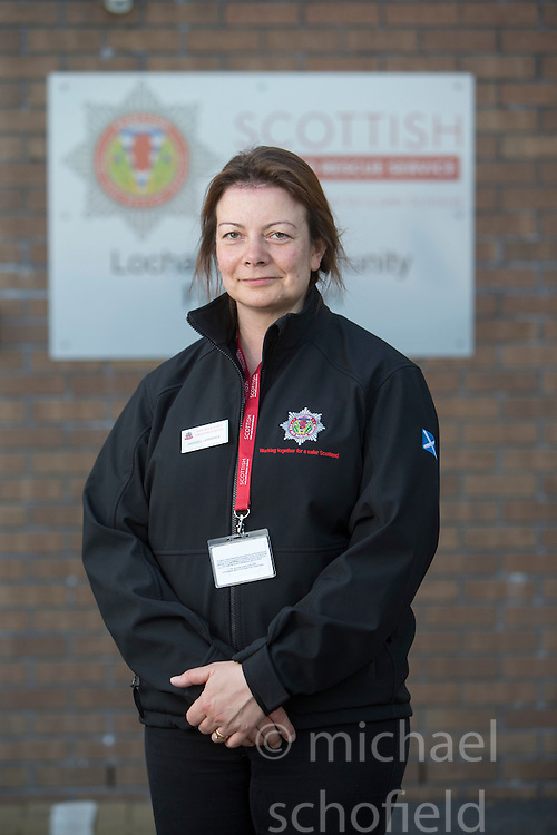 Annabel Lawrence. News feature on the nearly all-female firefighting crew based at the Fire Shed, Lochaline, on the Morvern Peninsula.