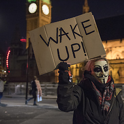 November 5, 2016 - London, UK - London, UK. Participants wearing Guy Fawkes style masks take part in the Million Mask March in central London, amidst a heavy police presence. (Credit Image: © Stephen Chung/London News Pictures via ZUMA Wire)