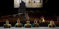 English National Ballet <br /> Triple Bill<br /> at Sadler's Wells, London, Great Britain <br /> rehearsal <br /> 7th September 2015 <br /> <br /> No Man's Land <br /> <br /> by Liam Scarlett <br /> <br /> <br /> <br /> <br /> Photograph by Elliott Franks <br /> Image licensed to Elliott Franks Photography Services