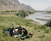Paul Salopek at a camping spot next to Darshai village. Sights and places to see while walking along the Tajikistan side of the Wakhan Corridor.