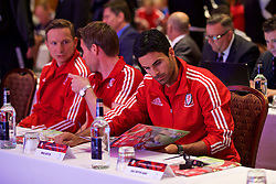 NEWPORT, WALES - Friday, May 20, 2016: Former Arsenal player Mikel Arteta during the Football Association of Wales' National Coaches Conference 2016 at the Celtic Manor Resort. (Pic by David Rawcliffe/Propaganda)