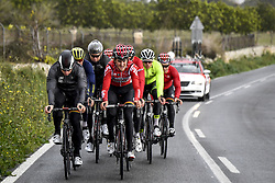 December 15, 2017 - Majorca, SPAIN - German Andre Greipel of Lotto Soudal and Belgian Tiesj Benoot of Lotto Soudal pictured in action during a press day during Lotto-Soudal cycling team stage in Mallorca, Spain, ahead of the new cycling season, Friday 15 December 2017. BELGA PHOTO DIRK WAEM (Credit Image: © Dirk Waem/Belga via ZUMA Press)