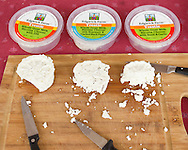 Cornwall, New York  - Samples of cheese made at Edgwick Farm in Cornwall on April 15, 2012.