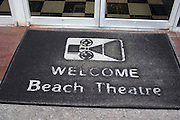 Floor mat at entrance to The Beach Theatre on Corey Avenue.  St. Pete Beach Tampa Bay Area Florida USA