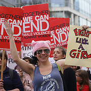 London,England,UK. 11th March 2017. Hundreds of protests against male violent for the Million Women March in London,UK. by See Li