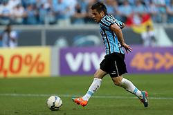 Ramiro marca gol na partida contra o Internacional válida pelo GRENAL 403 na Arena do Gremio, em Porto Alegre. FOTO: Jefferson Bernardes/ Agência Preview
