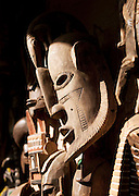 Old, classic west African masks for sale at a market in Bamako, Mali