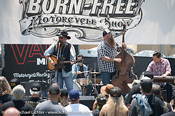 Great bands played the main stage at the Born Free chopper show. Silverado, CA. USA. Sunday June 24, 2018. Photography ©2018 Michael Lichter.