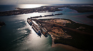 A view over the key export precinct of Port Hedland in Western Australia's north West.