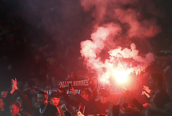 March 14, 2019 - London, England, United Kingdom - Flares.during Europa League Round of 16 2nd Leg  between Arsenal and Rennes at Emirates stadium , London, England on 14 Mar 2019. (Credit Image: © Action Foto Sport/NurPhoto via ZUMA Press)