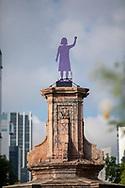 Antimonumenta colocada por colectivas feministas en la antes conocida Glorieta de Colón ahora llamada Glorieta de las Mujeres que Luchan