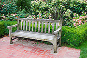 Bench at the International Rose Test Garden, Washinigton Park, Portland, Oregon
