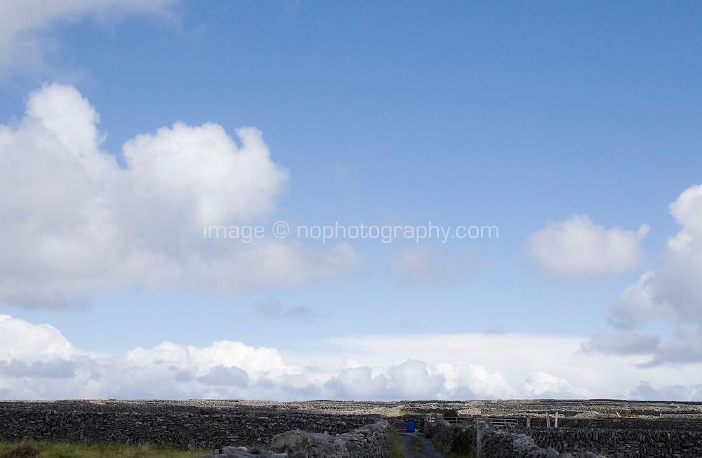 Stone walls on Inis Oirr Island the Aran Islands County Galway Ireland
