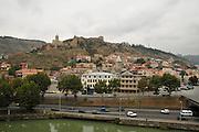Georgia, Tbilisi, Narikala fortress and Kura (Mtkvari) river