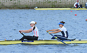 Reading. United Kingdom. GBR W2-, Bow Jessica EDDIE and Polly SWANN, morning time trial, Redgrave and Pinsent Rowing Lake. Caversham.<br /> <br /> 10:43:26  Saturday  19/04/2014<br /> <br />  [Mandatory Credit: Peter Spurrier/Intersport<br /> Images]