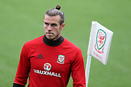 Gareth Bale of Wales looks on during  the Wales football team training at the Vale Resort in Hensol, near Cardiff , South Wales on Tuesday 29th August 2017.  the team are preparing for their FIFA World Cup qualifier home to Austria this weekend.  pic by Andrew Orchard, Andrew Orchard sports photography