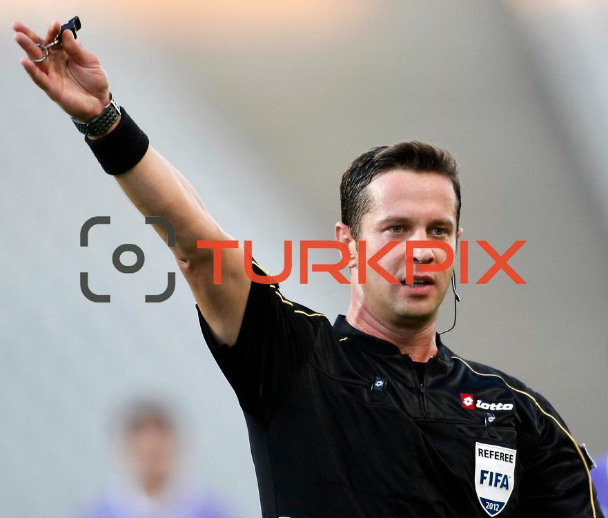 Referee's Halis Ozkahya during their Turkish Superleague soccer match istanbul BBSK between Orduspor at the Ataturk Olympic stadium in Istanbul Turkey on Sunday 23 September 2012. Photo by TURKPIX