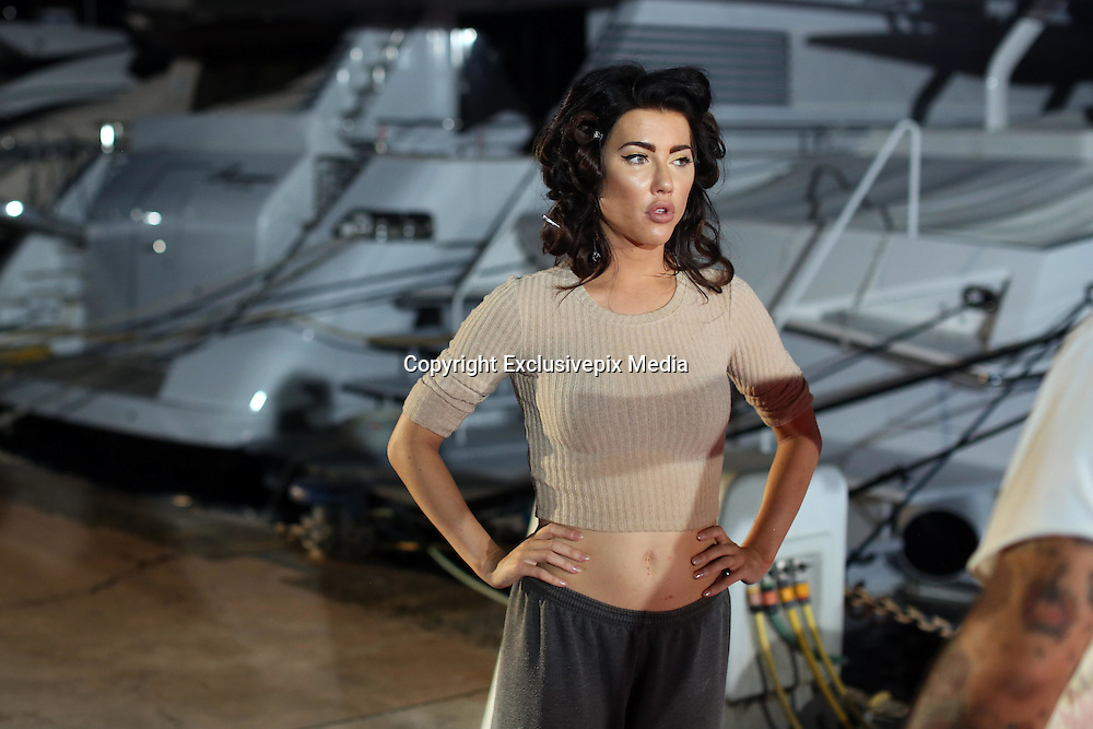 (KIKA) - NAPLES - EXCLUSIVE - Jacqueline MacInnes Wood and Katherine Kelly Lang were photographed at Molo Luise, Naples, where they were with Italian actress Cosima Coppola to present models of the new Empire Couture collection.<br /> <br /> The interpreters of Steffy Forrester and Brooke Logan on the soap opera Beautiful awaiting the parade have behaved as if they were on a set alternating moments of concentration with most relaxing breaks.<br /> <br /> Jacqueline MacInnes Wood joked along with Italian actress, while Katherine Kelly Lang preferred to look for the right concentration inside her dressing room.<br /> ©Exclusivepix Media