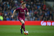 Kevin De Bruyne of Manchester city in action.  The Emirates FA Cup, 4th round match, Cardiff city v Manchester City at the Cardiff City Stadium in Cardiff, South Wales on Sunday 28th January 2018.<br /> pic by Andrew Orchard, Andrew Orchard sports photography.