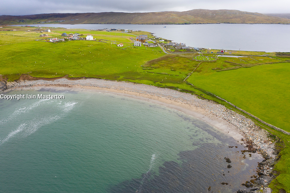 View of Sandwick Beach at Hillswick , Northmavine on  Shetland, Scotland, UK