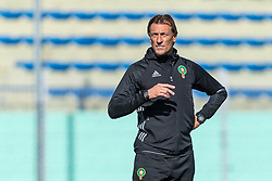 coach Herve Renard of Morocco during a training session prior to the International friendly match between Morocco and Oezbekistan in Cassablanca on March 26, 2018, Morocco.