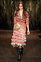 Zuzanna Bijoch walks down runway for F2012 Altuzarra's collection in Mercedes Benz fashion week in New York on Feb 10, 2012 NYC's