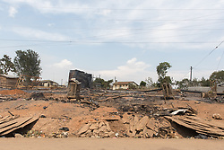 Burned Out Section Of Village