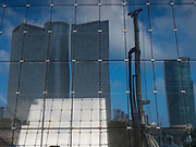 Azrieli towers. Modern, glass faced High rise buildings in Tel Aviv, Israel