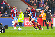 Josh Morris of Scunthorpe United (11) in action during the EFL Sky Bet League 1 match between Scunthorpe United and Bradford City at Glanford Park, Scunthorpe, England on 27 April 2019.