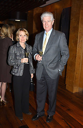 MR & MRS EDWARD ASPREY at the opening party of Pengelley's, 164 Sloane Street, London SW1 on 22nd February 2005.<br />