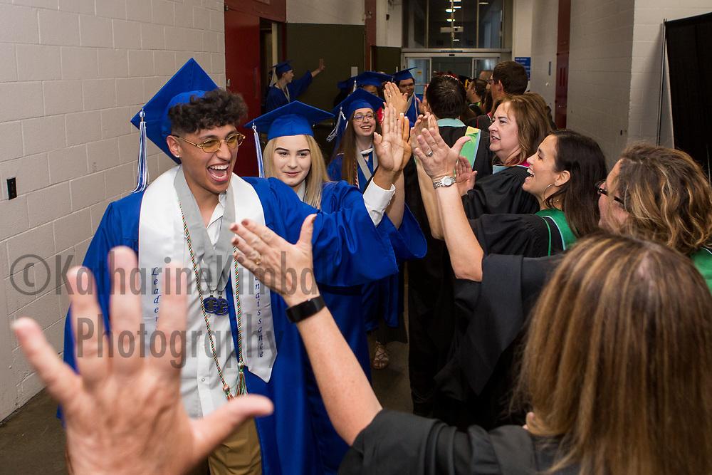 Gresham High School graduation at Memorial Coliseum in Portland, Oregon.