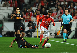 February 22, 2019 - Na - Lisbon, 21/02/2019 - SL Benfica received Galatasaray SK tonight at Est√°dio da Luz in the second qualifying round of the Europa League 2018/2019. Cervi  (Credit Image: © Atlantico Press via ZUMA Wire)