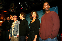 02 Feb, 2006. New Orleans, Louisiana.<br /> The cast and directors of the movie Deja Vu give a press conference at the House of Blues in New Orleans, Louisiana. L/R; Adam Goldberg, Val Kilmer, Jim Caviezel, Tony Scott, Jerry Buckheimer, Paula Patton and Denzel Washington.<br /> Photo; Charlie Varley/varleypix.com