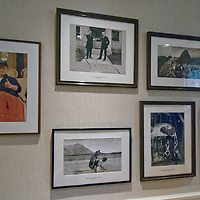 Photographs of classic National Geographic expeditions line the walls of the old executive dining room at the Society's Washington DC headquarters.