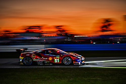 March 13, 2019 - Sebring, Etats Unis - 51 AF CORSE (ITA) FERRARI 488 GTE EVO GTE PRO ALESSANDRO PIER GUIDI (ITA) JAMES CALADO (GBR) DANIEL SERRA  (Credit Image: © Panoramic via ZUMA Press)