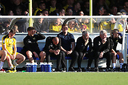 Oxford United manager Karl Robinson looking at pitch during the EFL Sky Bet League 1 match between AFC Wimbledon and Oxford United at the Cherry Red Records Stadium, Kingston, England on 29 September 2018.