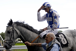 Dark Shift and jockey Daniel Tudhope after winning The Racing To School Classified Stakes during the Autumn Racing Weekend at Ascot Racecourse, Berkshire. Picture date: Friday October 1, 2021.