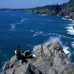 "Cutler, ME. Hiking the ""Bold Coast"" - Bay of Fundy.  View from the Coastal Trail.  One of the most remote and beautiful trails in New England."