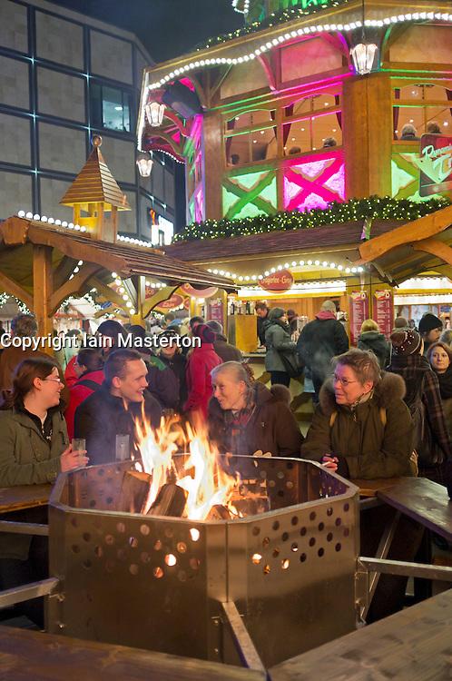 Traditional Christmas market at Alexanderplatz in Mitte Berlin Germany