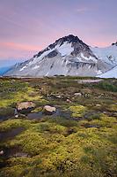 Twilight over Mount Ethelweard 2819 m (9249 ft), Coast Mountains British Columbia Canada